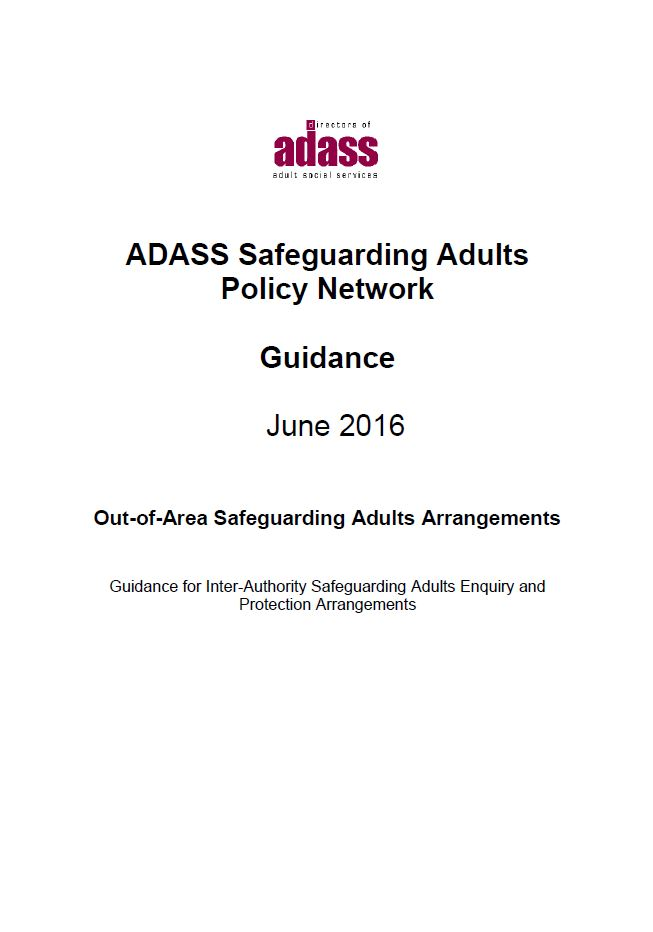 Out of Area Safeguarding Adult Arrangements