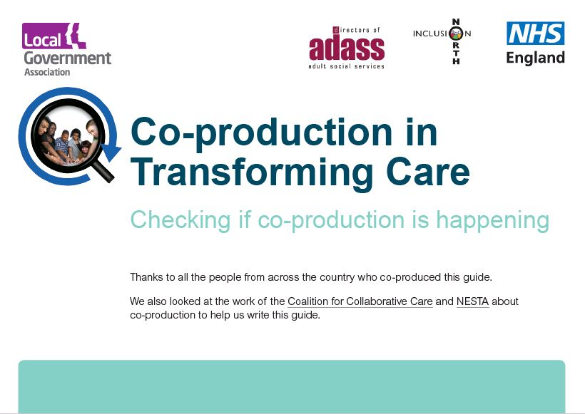 Co-production in Transforming Care