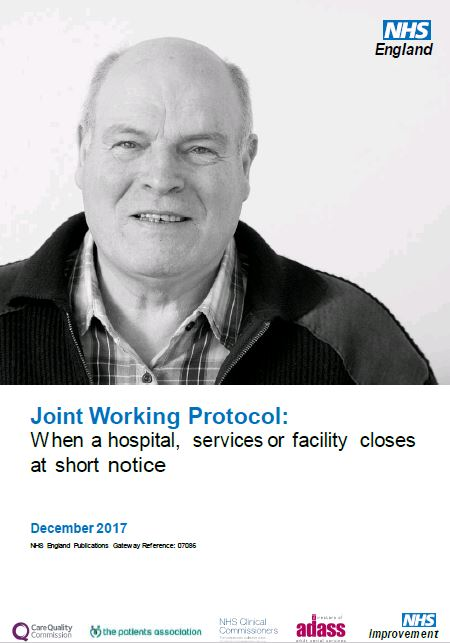 Joint Working Protocol: When a hospital, services or facility closes at short notice